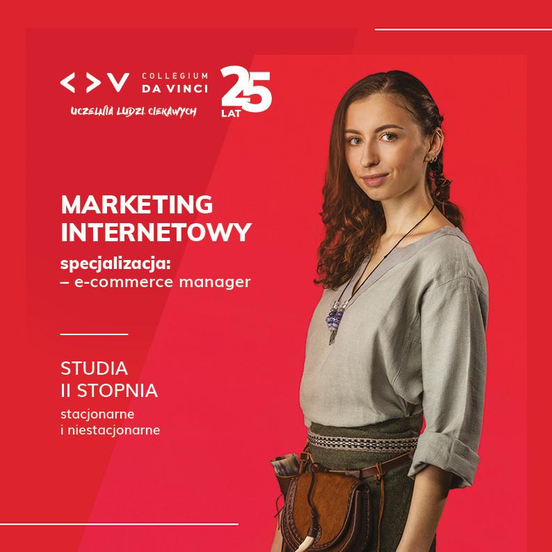 Folder kierunku Marketing internetowy na II stopniu