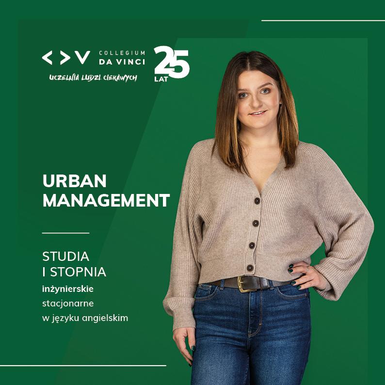Folder kierunku Urban Management